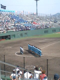 高校野球滋賀県大会決勝  北大津vs近江