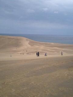 嵐の鳥取砂丘