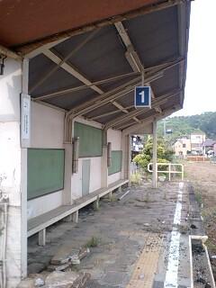 旧名鉄美濃町線・新関駅跡