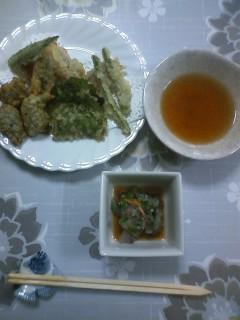 魚づくしの夕食