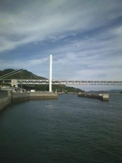 瀬戸大橋の真下から