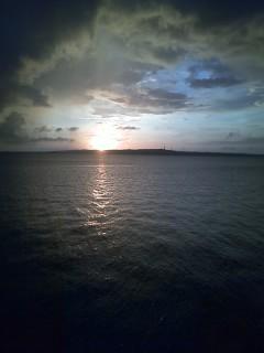 夕日の景色