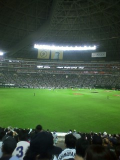 ヤフードームで野球観戦
