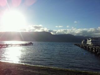 奥入瀬渓谷から十和田湖へ