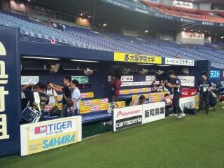 京セラドーム大阪でナイター観戦